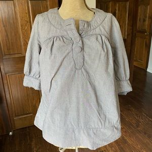 French Connection Gingham Blouse - Size 6